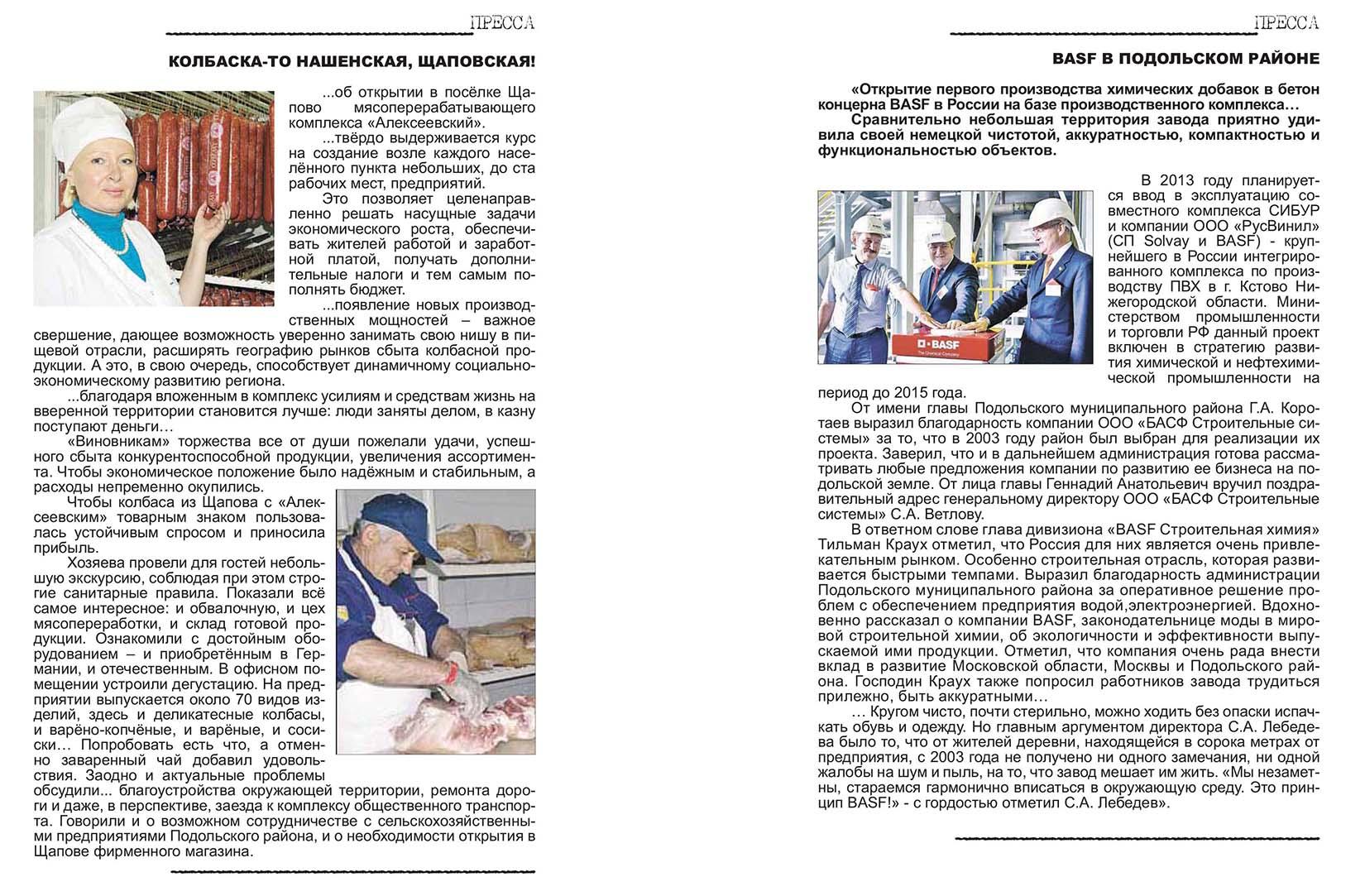 Промышленность и предпринимательство в Подольском районе