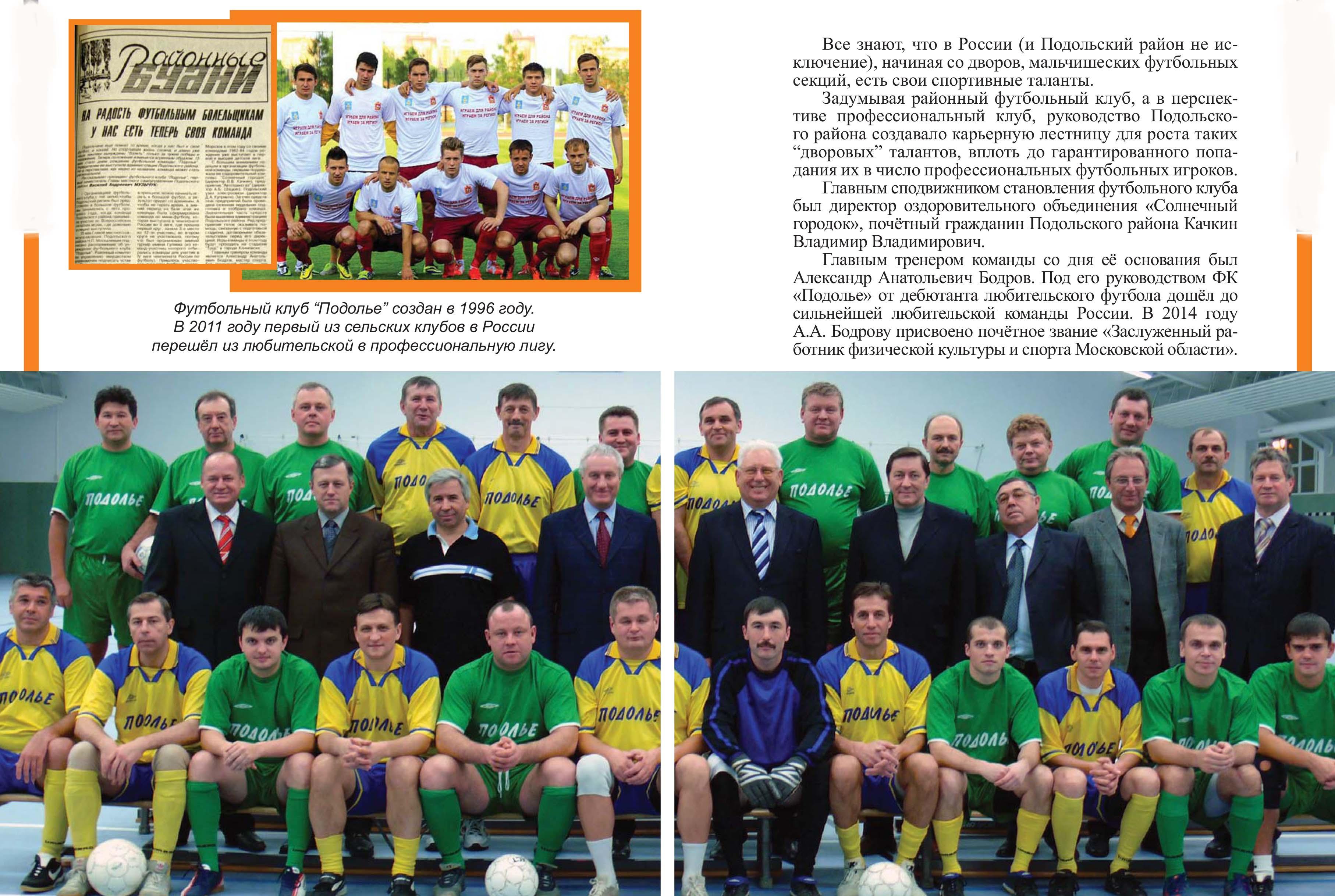 Развитие спорта в Подольском районе