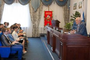первое заседание Молодежного парламента при Совете депутатов Г.о. Подольск 11июля 2016 г.