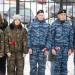 Митинг, посвященный профессиональному празднику сотрудников полиции,  в дубровицкой школе, которая носит имя Героя России А. Монетова