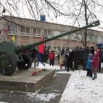 На территории климовской гимназии им. Подольских курсантов 4 ноября состоялось открытие мемориальной артиллерийской пушки