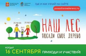 Большой Подольск примет участие в областной акции «Наш лес. Посади свое дерево»