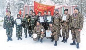 Участники команды «Витязь-Быково» – победители зимнего этапа военно-спортивной игры «Юнармейские старты-2018».