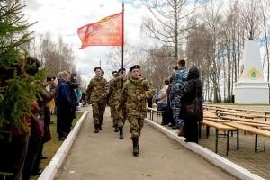 На мемориале в Кузовлево состоялась церемония открытия памятника Неизвестным героям — защитникам Москвы 3 мая 2018