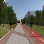 Обустройство пешеходной зоны на улице 50 лет ВЛКСМ в Подольске
