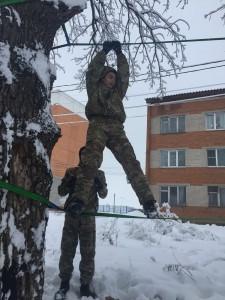 Военно-спортивная игра «Готов служить России-2019» прошла в Большом Подольске 13 февраля