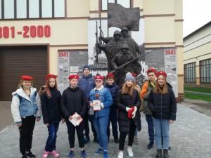 Юнармейцы Подольска приняли участие в закрытии Московской областной «Вахты памяти – 2019»