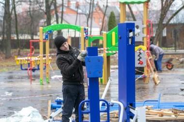Детскую, спортивную и тренажерную площадки установят в сквере на Красной Горке