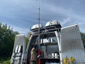 Мобильная лаборатория Росгидромета продолжает исследовать качество атмосферного воздуха в Большом Подольске