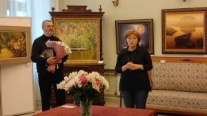В Музее истории усадьбы Александрово-Щапово 29 января состоялось торжественное открытие выставки художников Дмитрия и Галины Григоровичей.