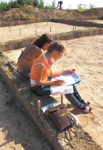 Раскопки селища Филино 1